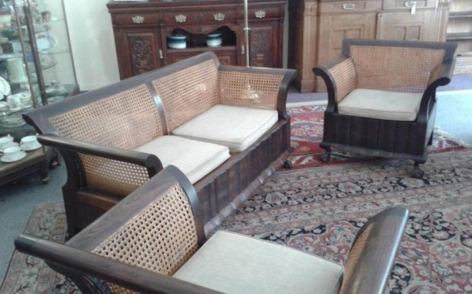 1920s Furniture for Sale | Stinkwood and Rattan Lounge Suite