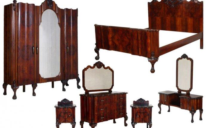 Antique Chippendale Furniture Set 1930s Italian Bedroom - MAM23
