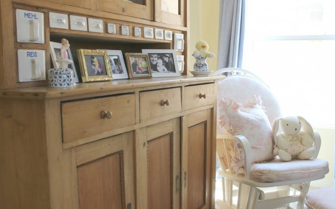 Decorating: The Vintage Hutch In Olivia s Nursery - Mendez Manor