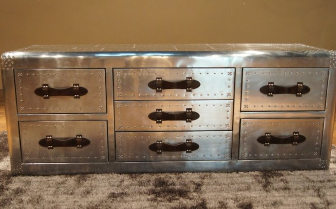 Decoration Metal Vintage Furniture With Vintage Metal Drawers