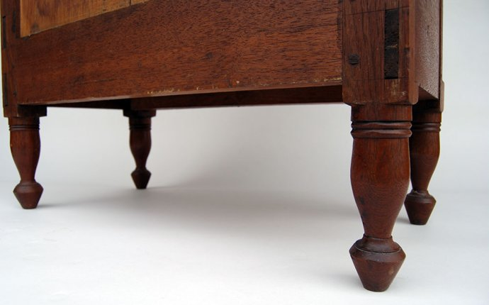 Early Antique American Walnut Childs Chest: Circa 1830