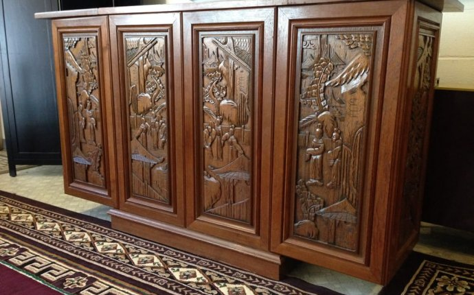 Expandable Carved Teak Bar - Yelp