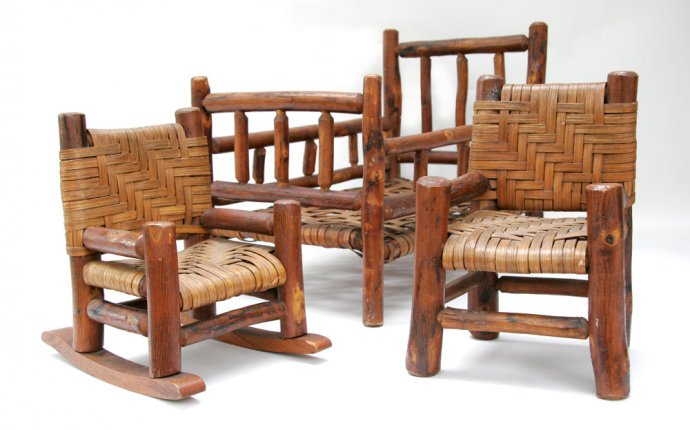 Old Hickory Furniture Salesman Samples Rare Martinsville, Indiana