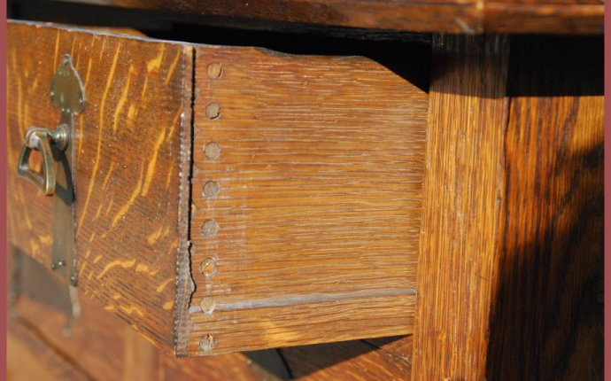 Voorhees Craftsman Mission Oak Furniture - Antique Arts and Crafts