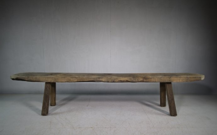 Welsh Antique Primitive Oak Estate Bench Seat | Antique furniture