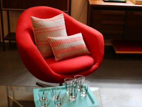 red-modern-accent-chair